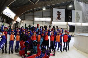 Sinterklaas op ijsbaan Leiden