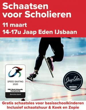 Gratis Schaatsen voor Scholieren op 11 maart