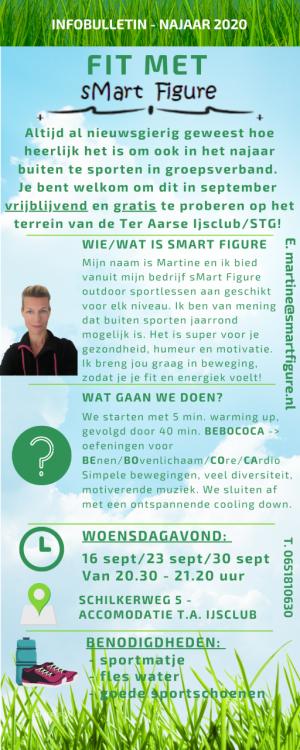Infobulletin over buitentrainingen van sMart Figure najaar 2020