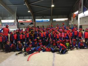 Sinterklaas op de ijsbaan in Leiden