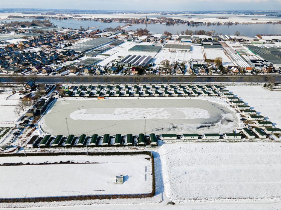 Landijsbaan vanuit de lucht 10-02-2021