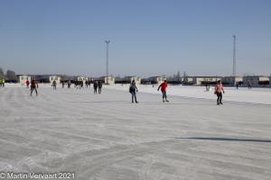 Schaatsen op de landijsbaan